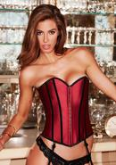 Satin Heart Corset Red/blk S
