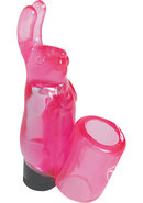 Minx Mini Bunny Finger Vibe Waterproof Pink 3.5 Inch